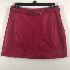 Wilson Leather - Red Leather skirt